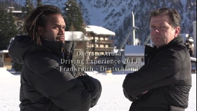 Mercedes-Benz Driving Experience mit Andreas Möller und Christian Karembeu vor dem Länderspiel Frankreich gegen Deutschland / Heißes Duell auf Schnee und Eis: Deutschland besiegt Frankreich